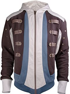 Assassin's Creed Edward Kenway Hoodie/Jacket Unisex Official Ubisoft Collection (X-Small) Brown