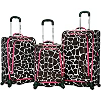Rockland Fusion Softside Spinner 3 Piece Luggage Set