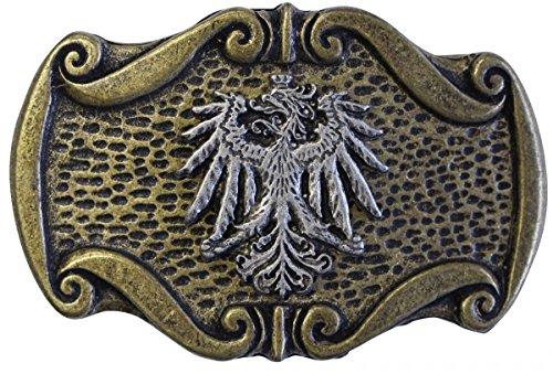 Gürtelschnalle Adler 4,0 cm | Buckle Wechselschließe Gürtelschließe 40mm Massiv | für Lederhose Dirndl Tracht