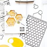 <span class='highlight'><span class='highlight'>wiFndTu</span></span> Cutting Dies for Card Making, Honeycomb Background Cutting Dies DIY Scrapbook Mold for Album Embossing Photo Craft Paper Cards Decorative Craft for Holiday decorations Silver