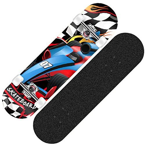 MKJYDM Scooter Maple Long Board Brush Street Dance Board Cuatro Ruedas Doble Skateboard Skateboard Principiante Teen Boy Girl Profesional Skateboard patineta (Color : G)