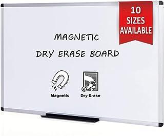 VIZ-PRO Pizarra blanca magnética con marco de aluminio, 150