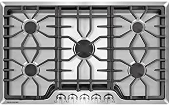 Frigidaire Gallery 36 Inch Stainless Steel Gas Cooktop, 5-Burner Range with Liquid..