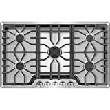 Frigidaire Gallery 36 Inch Stainless Steel Gas Cooktop, 5-Burner Range with Liquid Propane Cooktop Conversion...