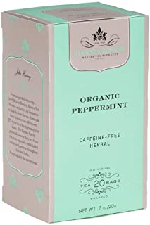 Harney & Sons Premium Organic Herbal Tea, Peppermint, 20 Count