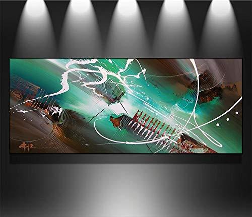 wZUN Hacer Pintura al óleo Abstracta de la decoración de la Pared en la Lona, Arte de la Pared de la Lona 60x120 Sin Marco