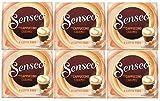 Senseo Cappuccino Caramel, Nouveaux Design, Lot de 6, 6 x 8 Dosettes de Café