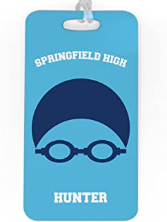 personalized swimming bag tags