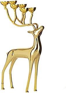 RMXMY Cobre Creativo Ciervos Muebles joyería candelabro decoración