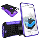 iPhone 8 Plus Case, iPhone 7/7S Plus Armor Cases (7&8) Tough Rugged Shockproof Armorbox Dual Layer Hybrid Hard/Soft Slim Protective Case (5.5 inch) by Cable and Case - Purple Armor Case