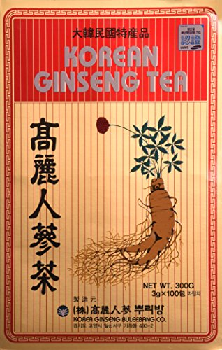Korean Ginseng Tea Chá Coreano 100 Unid Original