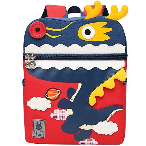 Kinder Rucksäcke Vorschule Kleinkind Schultaschen Kindergartenrucksack für Kindergarten Jungen Mädchen, Drache L