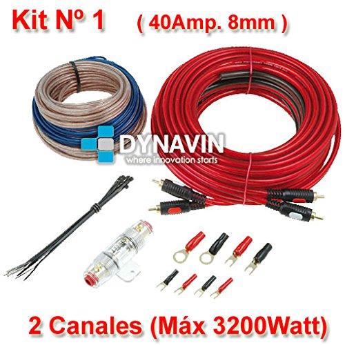 KIT 1 - Kit de instalación, juego de cables para instalar amplificadores de sonido y etapas de potencia