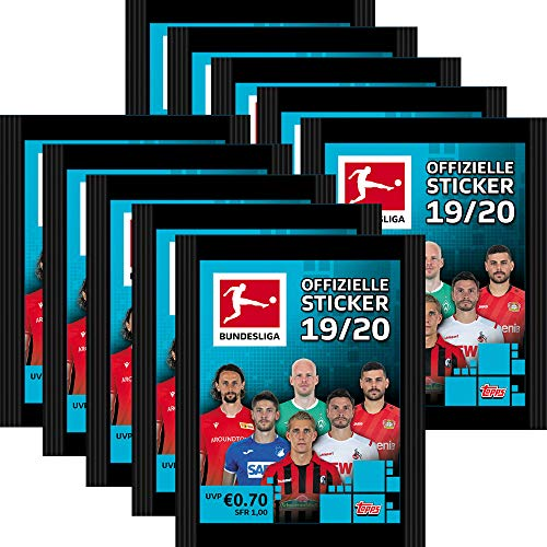 CAGO Topps Bundesliga Sammelsticker 2019/20 - 10 Tüten