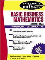Basic Business Mathematics (Schaum's Outlines)
