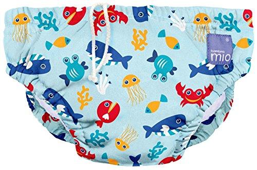 Bambino Mio Schwimmwindel SWPM DSB, Meerestiere Blau, M (6-12 Monate)