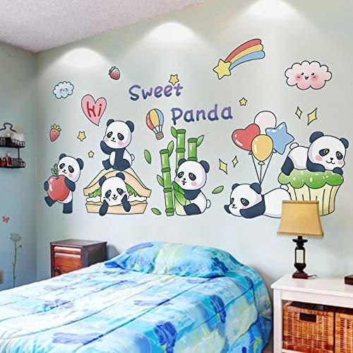 DSSJ Dibujos Animados Lindo Panda Pegatinas decoración de la Pared de la habitación de los niños diseño de la habitación del bebé Dormitorio del bebé Pegatinas de Pared de educación temprana