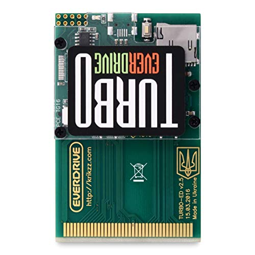 Turbo EverDrive v2 Flash Cartridge Card for TurboGrafx-16 and PC Engine