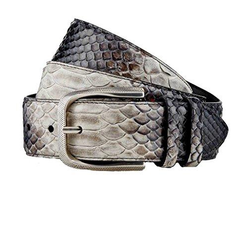 GUT INSTINKT - Cinturón de piel de serpiente real de cuero italiano de lujo artesanal - BAZIGAR
