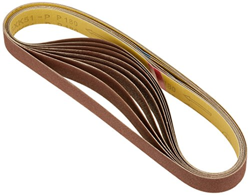 Scheppach 7903301702 Zubehör Schleifgerät/Schleifbandset, passend für den BTS700 Band- und Tellerschleifer, Körnung 60/80, 765 x 25 mm