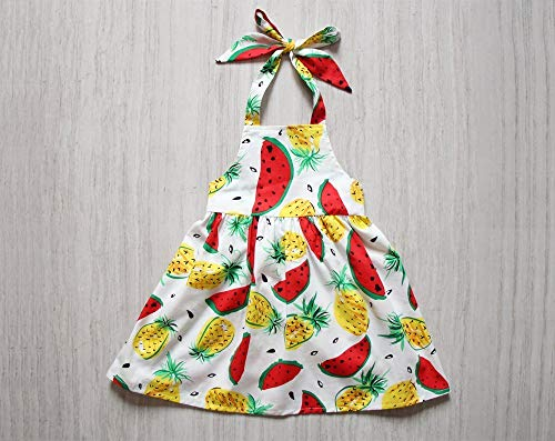 Watermelon Pineapple Girls Dress Apron Dress Red Pinafore Dress