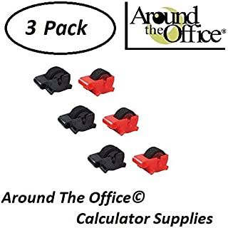 Around The Office Compatible Package of 3 Individually Sealed Ink Rolls Replacement for Sharp EL-2192-RII Calculator