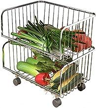 XT stojak do przechowywania warzyw i owoców, regał kuchenny, wielowarstwowy plastikowy stojak do przechowywania owoców i w...