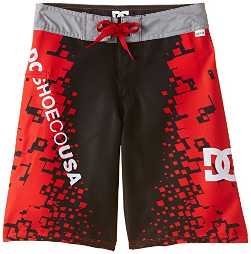 DC Clothing Jungen Badeshort Schwarz Black (Greenwich Red), W26