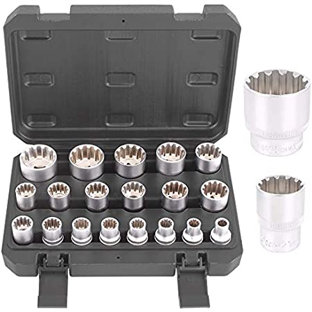 Steckschlüssel SW 9 mm 1//4 Zoll Werkzeug Kfz Stecknuß Außen Sechskant lang Nuss
