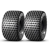 Set of 2 MaxAuto ATV Tires 22X11-8 22x11x8 AT Mud Sand Tire Sport Golf Cart Knobby ATV UTV Tires, 4 Ply Rating Tubeless