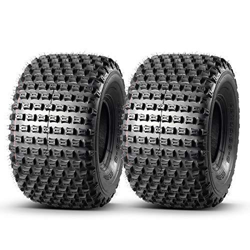 Set of 2 MaxAuto ATV Tires 22X11-8 22x11x8 AT Mud Sand Tire Sport Golf Cart Knobby ATV UTV Tires, 4 Ply Rating Tubeless