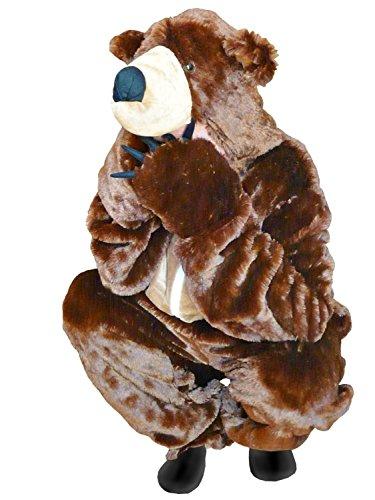 Braunbär-Kostüm, F67 Gr. XL, für hoch gewachsene Männer und Frauen, Bären-Faschingskostüm, für Fasching Karneval Fasnacht, für Männer und Frauen, Geburtstags-Geschenk, Weihnachts-Geschenk