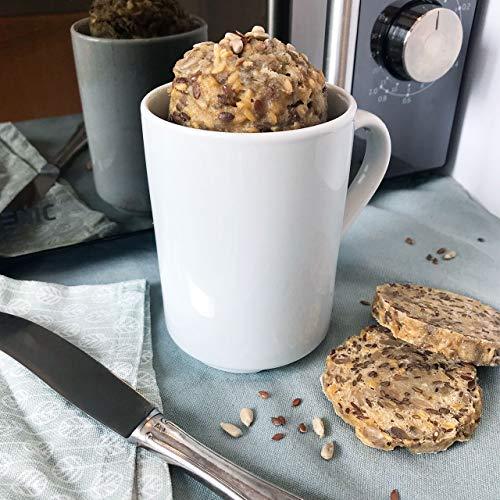 Minutenbrot Glutenfrei Backmischung 480g für 6 kleine Brote: Laktosefrei, Vegan, natürlich ohne Getreide und künstliche Zusätze