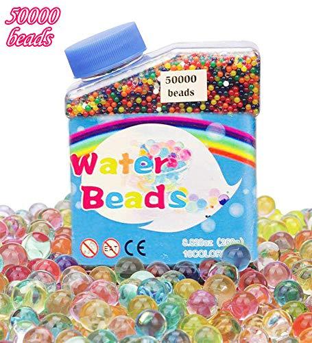 CHIMOO Perlas de Agua, 50.000 Cuentas de Cristal de Agua Coloridas Orbeez...