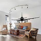 YIYEBAOFU Etiqueta de la Pared del avión Jumbo Jet Vinilo Etiqueta de la Pared Decoración de la Sala de Estar en casa Fondo de Pantalla del avión Grande R68x21cm