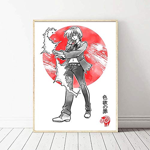 Geiqianjiumai Wand Künstler Dekoration HD Modular Print Bild Animation Poster Leinwand Malerei Schlafzimmer Rahmenlose Malerei 60x90 cm