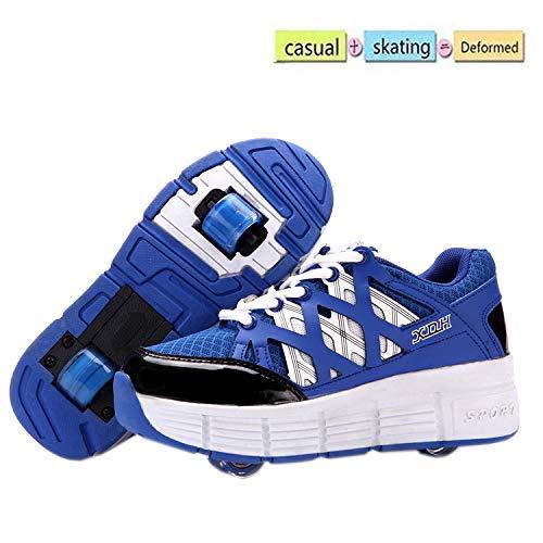 nnn Softtennisschoenen, sportschoenen, skateboard, voor jongens en meisjes, met wieltjes, ademend, casual schoenen
