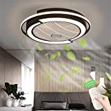 Unsichtbares Fan Deckenventilator Mit Fernbedienung LED Licht Einstellbare Windgeschwindigkeit...