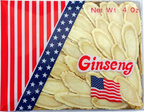 Green Bay American Ginseng Slices/Ginseng Slice/Sliced Ginseng Roots, 4 Oz Net Weight (Extra Large Size)