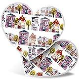 Impresionante 2 pegatinas de corazón de 7,5 cm – Bonita casa nueva casa calcomanías divertidas para portátiles, tabletas, equipaje, libros de chatarras, neveras, regalo genial #3904