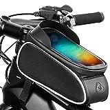 NgMik Fahrradzellenhalter Fahrrad Mobiltelefonhalter Fahrradtasche Front Beam Tasche Frontbeutel...