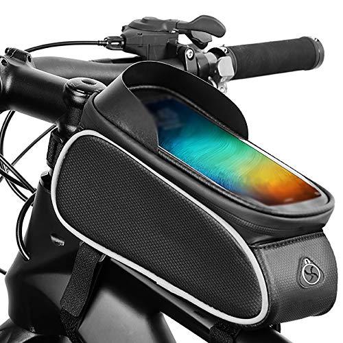 ReedG Soporte para Teléfono de Bicicleta Bolsa de Bicicletas Bolsa de Haz Frontal Bicicleta Titular de teléfono móvil Frente Bolsa Equipo de Montar a Caballo. Universal