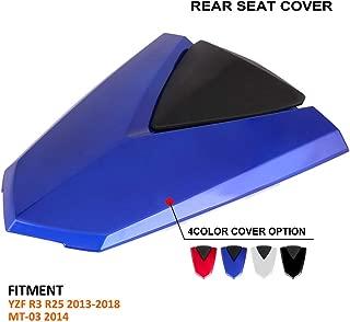 FATExpress moto blu lucido posteriore passeggero sellino Coprisella cover rigida ABS carena motore coda per 2005/ /06 /2006/Suzuki Gsxr 1000/GSXR1000/K5/05/