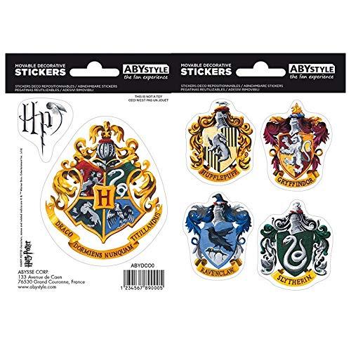 ABYstyle - HARRY POTTER - Pegatinas - 16x11cm- Hogwarts Casas