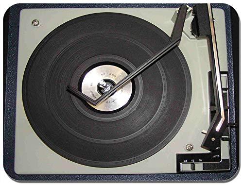 Tappetino del mouse con giradischi e mixer per DJ classico, vintage