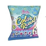 Barbie Color Reveal Mascotas Sirenas, muñeca Que Revela Sus Colores con Agua, Incluye Ropa y Accesorios (Mattel GTP74)