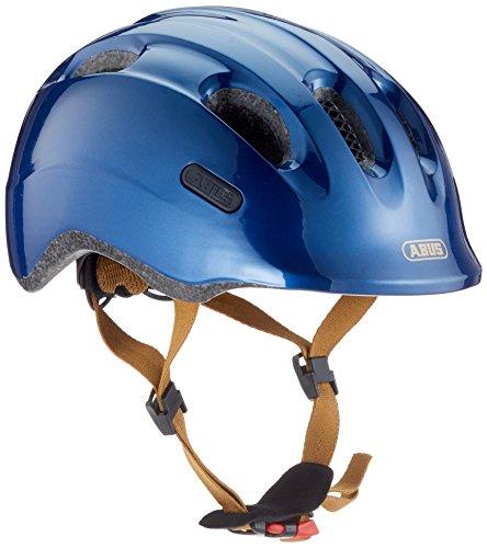 ABUS Smiley 2.0 Royal Kinderhelm - Robuster Fahrradhelm für Kinder - für Mädchen und Jungs - Blau/Gold, Größe M