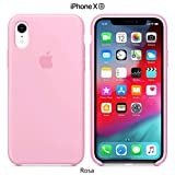 Funda Silicona para iPhone XR Silicone Case, Textura Suave, Forro Microfibra (Rosa)