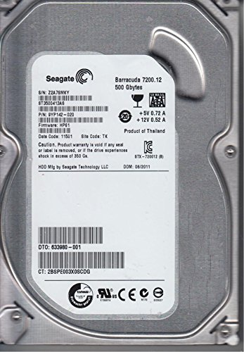ST3500413AS, Z2A, TK, PN 9YP142-020, FW HP61, Seagate 500GB SATA 3.5 dysk twardy