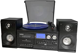 Lenoxx Home Entertainment System with turntable, Cassette player , USB port , SD slot and CD, BLACK